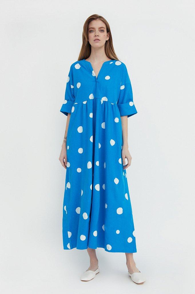 Платье-макси с крупным принтом, Модель S21-11042, Фото №1