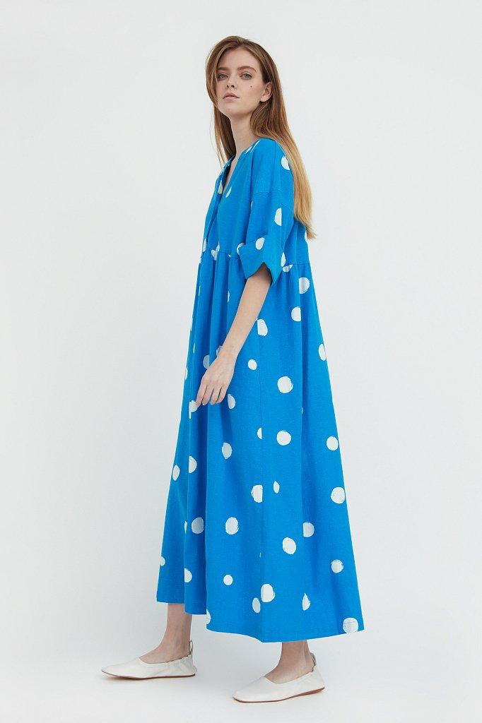 Платье-макси с крупным принтом, Модель S21-11042, Фото №3