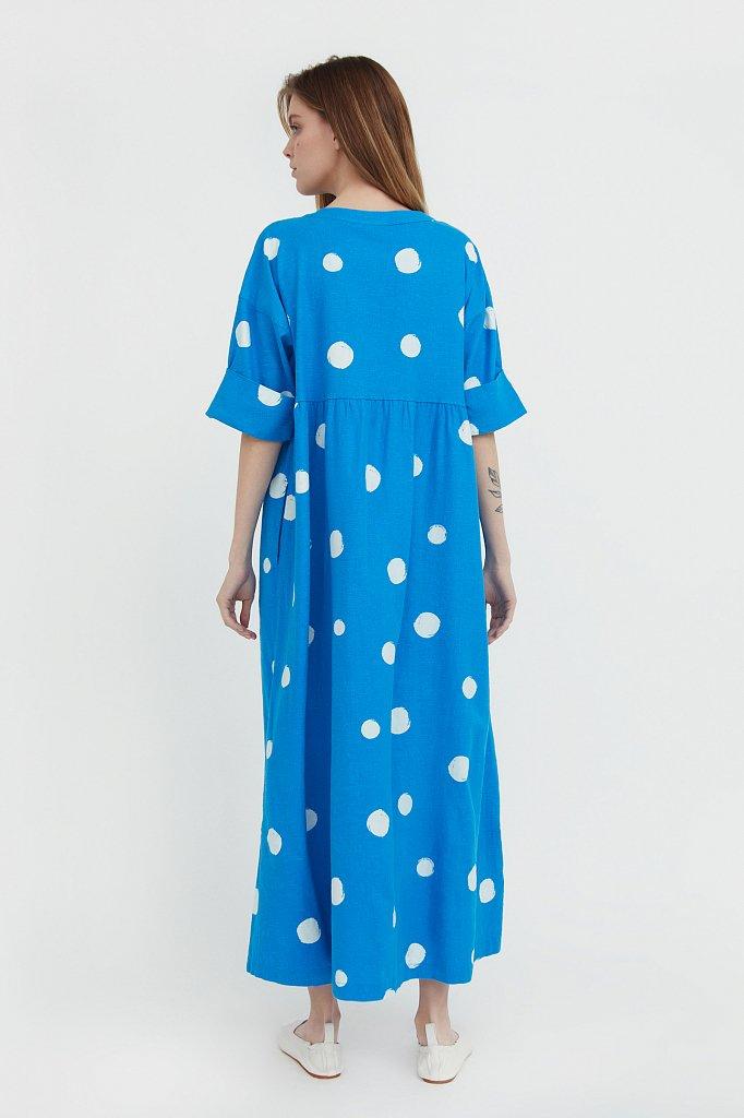 Платье-макси с крупным принтом, Модель S21-11042, Фото №4