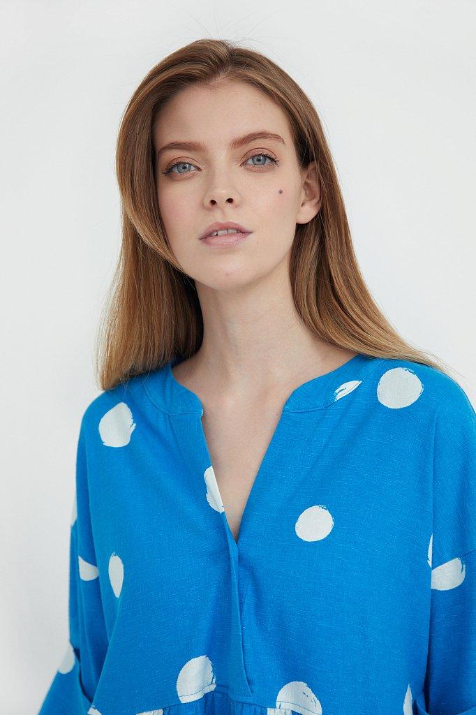 Платье-макси с крупным принтом, Модель S21-11042, Фото №6