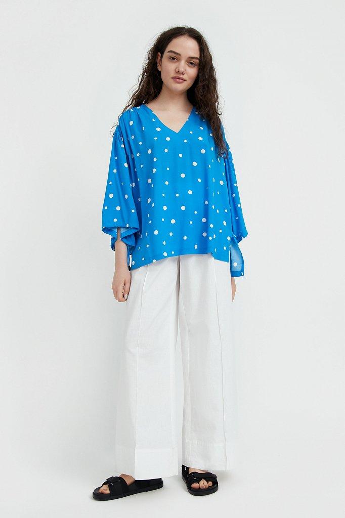 Свободная блуза в горох, Модель S21-11047, Фото №3