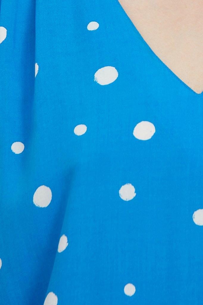 Свободная блуза в горох, Модель S21-11047, Фото №6