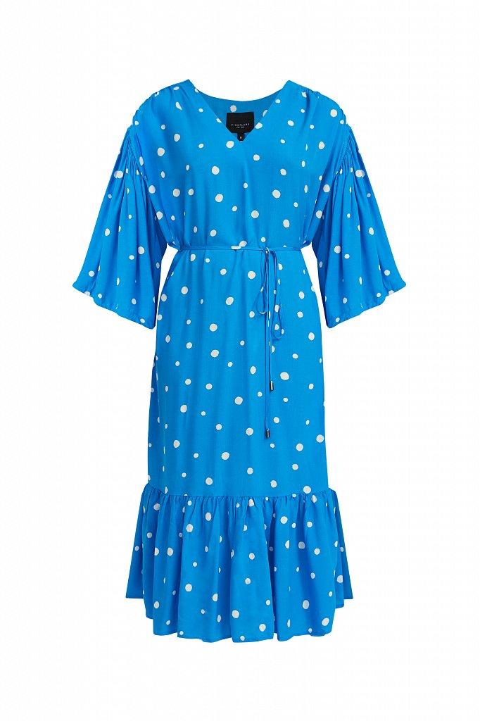 Платье миди в горох, Модель S21-11048, Фото №7