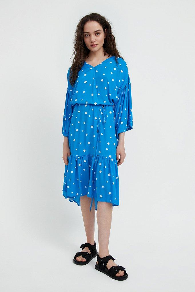Платье миди в горох, Модель S21-11048, Фото №2