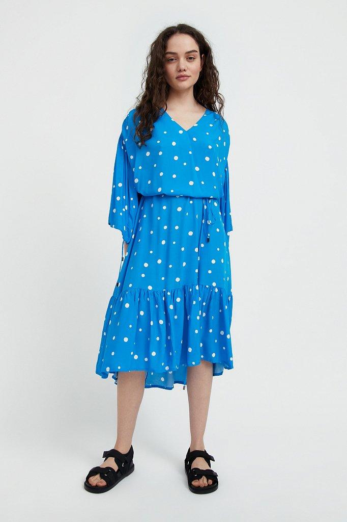 Платье миди в горох, Модель S21-11048, Фото №3