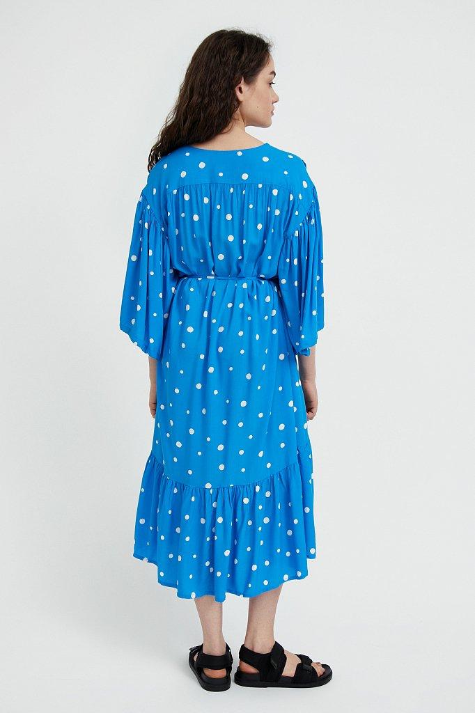 Платье миди в горох, Модель S21-11048, Фото №4