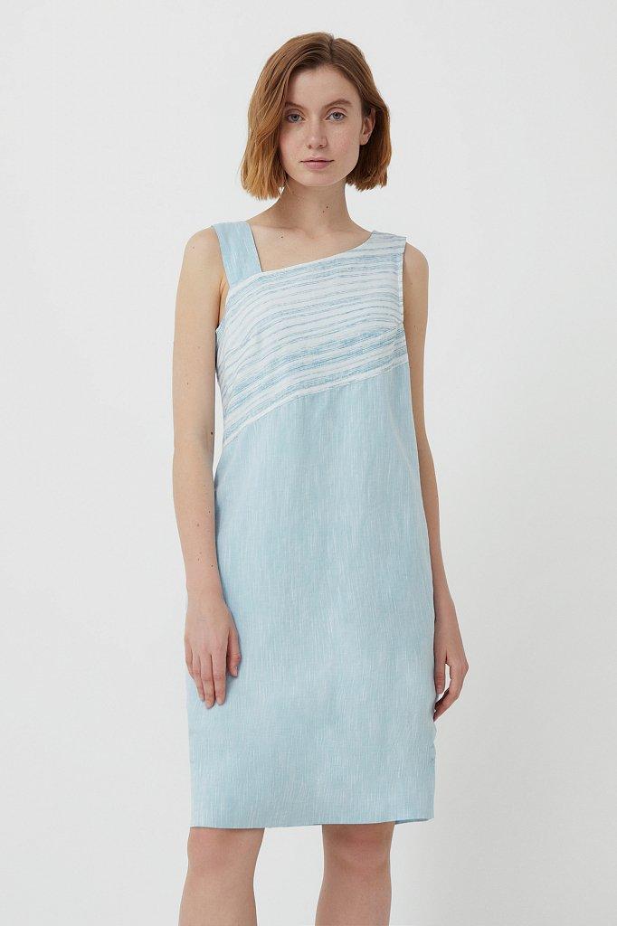 Платье из льна и хлопка, Модель S21-14036, Фото №1