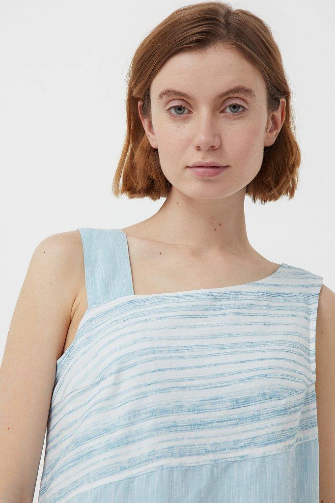 Платье из льна и хлопка, Модель S21-14036, Фото №6