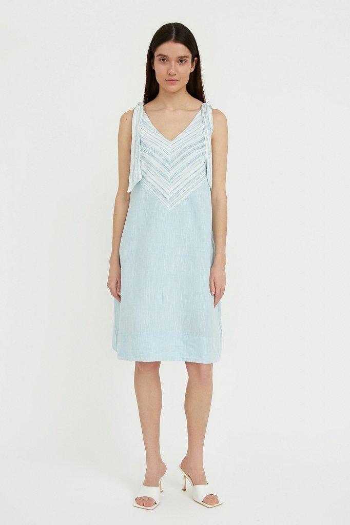 Хлопковое платье с принтом, Модель S21-14039, Фото №1