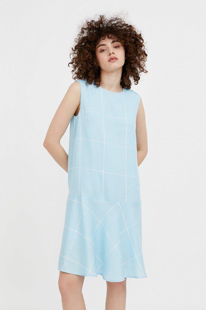 Платье с геометричным принтом, Модель S21-14049, Фото №1