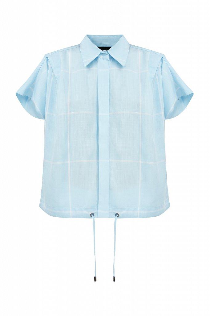 Блузка в крупную клетку, Модель S21-14050, Фото №7