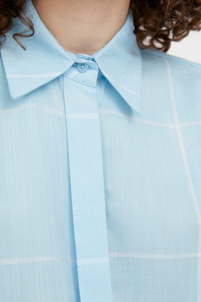 Блузка в крупную клетку, Модель S21-14050, Фото №5