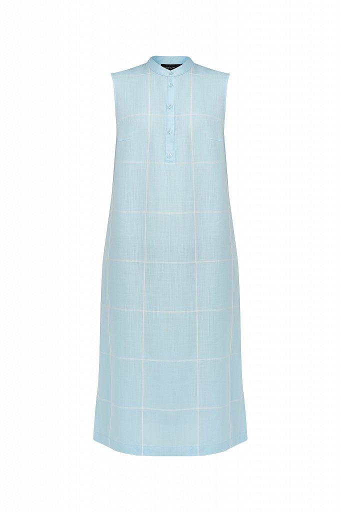 Платье прямого кроя в крупную клетку, Модель S21-14051, Фото №7