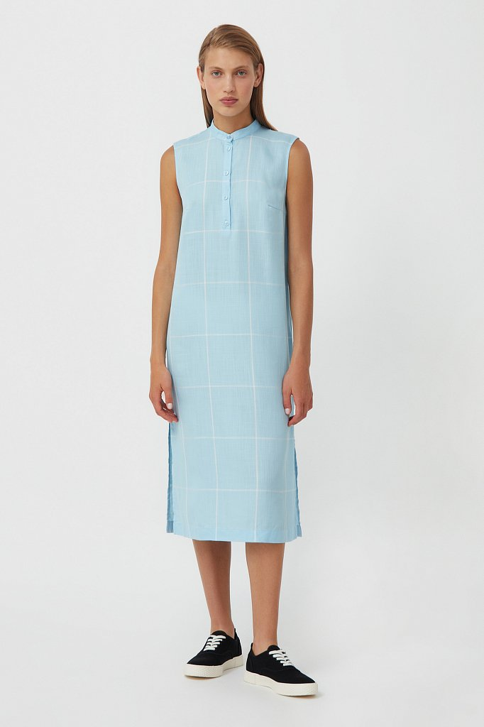 Платье прямого кроя в крупную клетку, Модель S21-14051, Фото №1