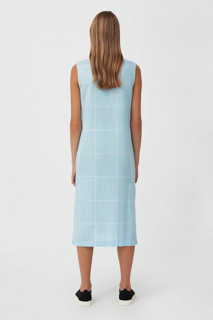 Платье прямого кроя в крупную клетку, Модель S21-14051, Фото №4