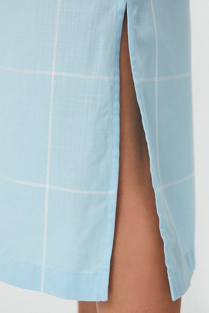 Платье прямого кроя в крупную клетку, Модель S21-14051, Фото №5