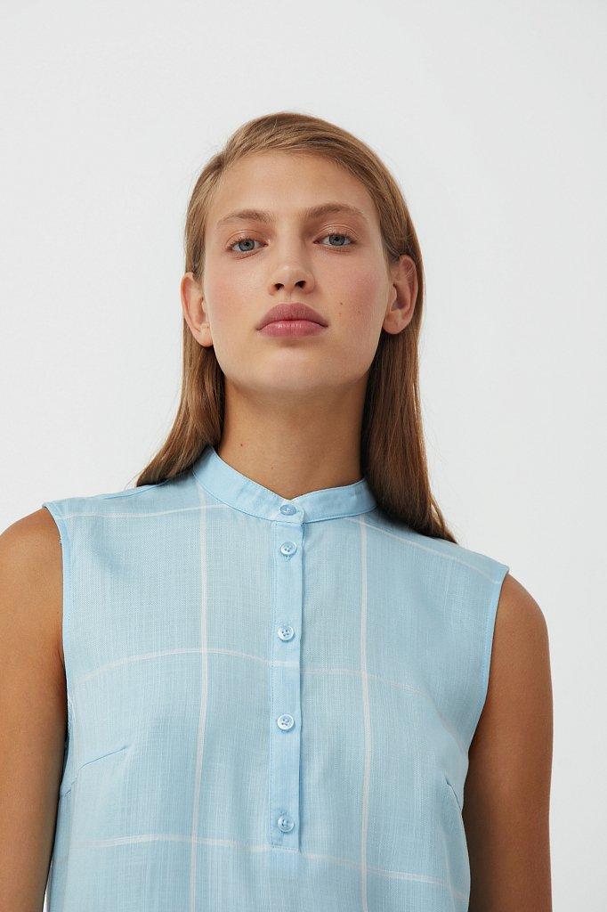 Платье прямого кроя в крупную клетку, Модель S21-14051, Фото №6