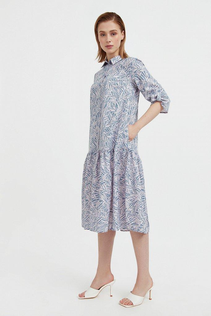 Платье-миди с растительным узором, Модель S21-14077, Фото №3