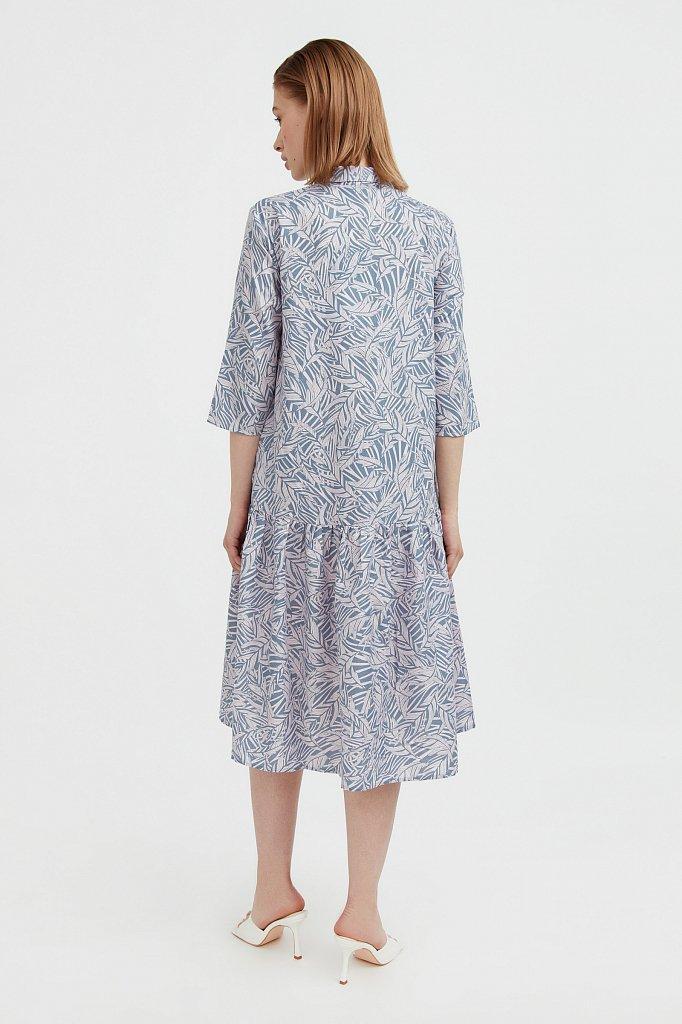 Платье-миди с растительным узором, Модель S21-14077, Фото №4