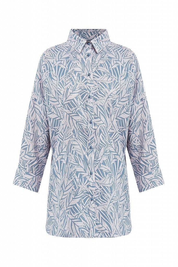 Рубашка с растительным орнаментом, Модель S21-14081, Фото №7