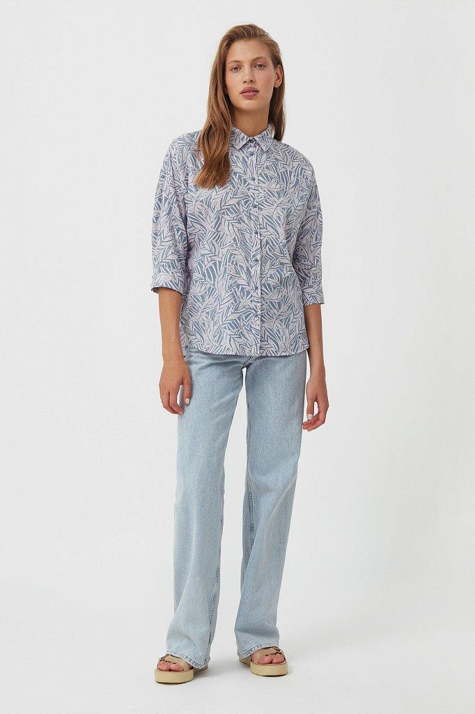Рубашка с растительным орнаментом, Модель S21-14081, Фото №2