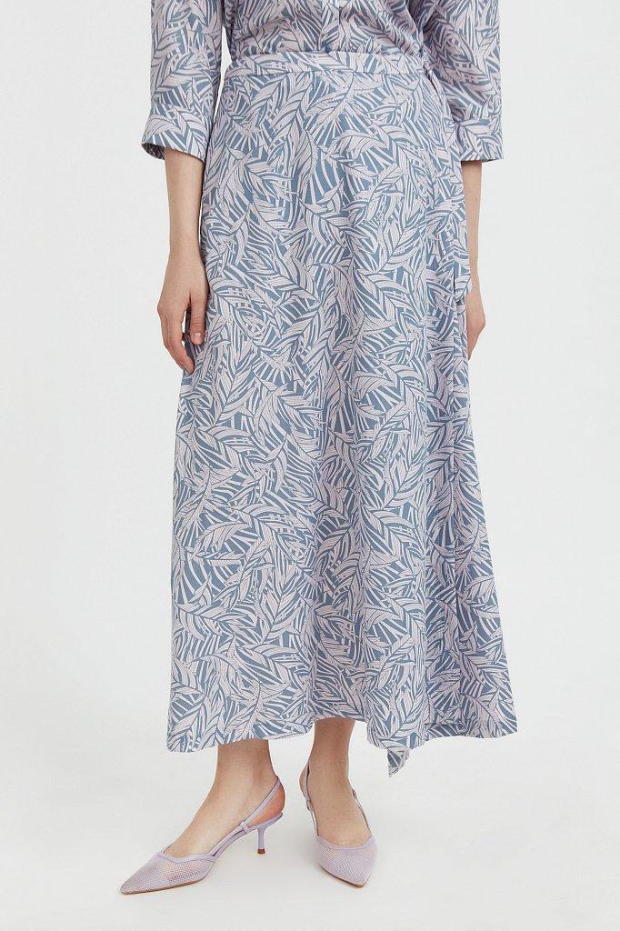 Принтованная юбка с запахом, Модель S21-14083, Фото №2