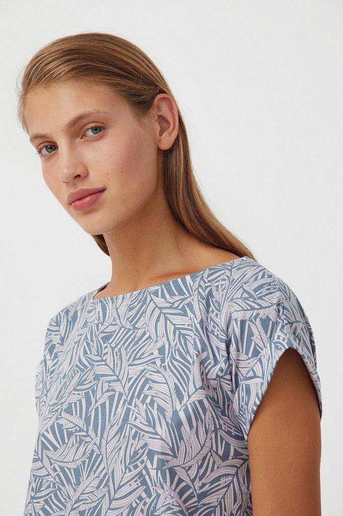 Прямое платье с растительным узором, Модель S21-14086, Фото №6