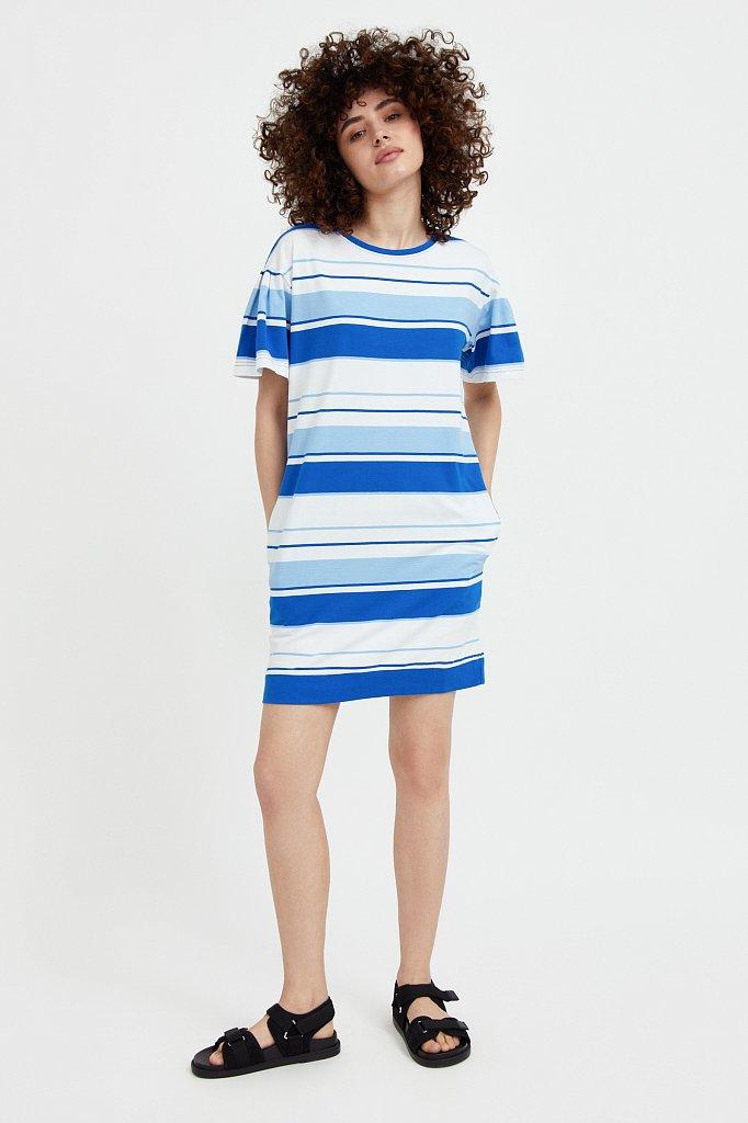 Хлопковое платье в полоску, Модель S21-14052, Фото №1