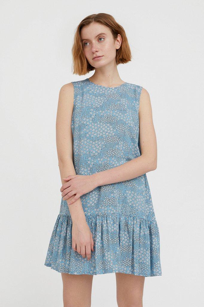 Платье мини с принтом, Модель S21-120100, Фото №1