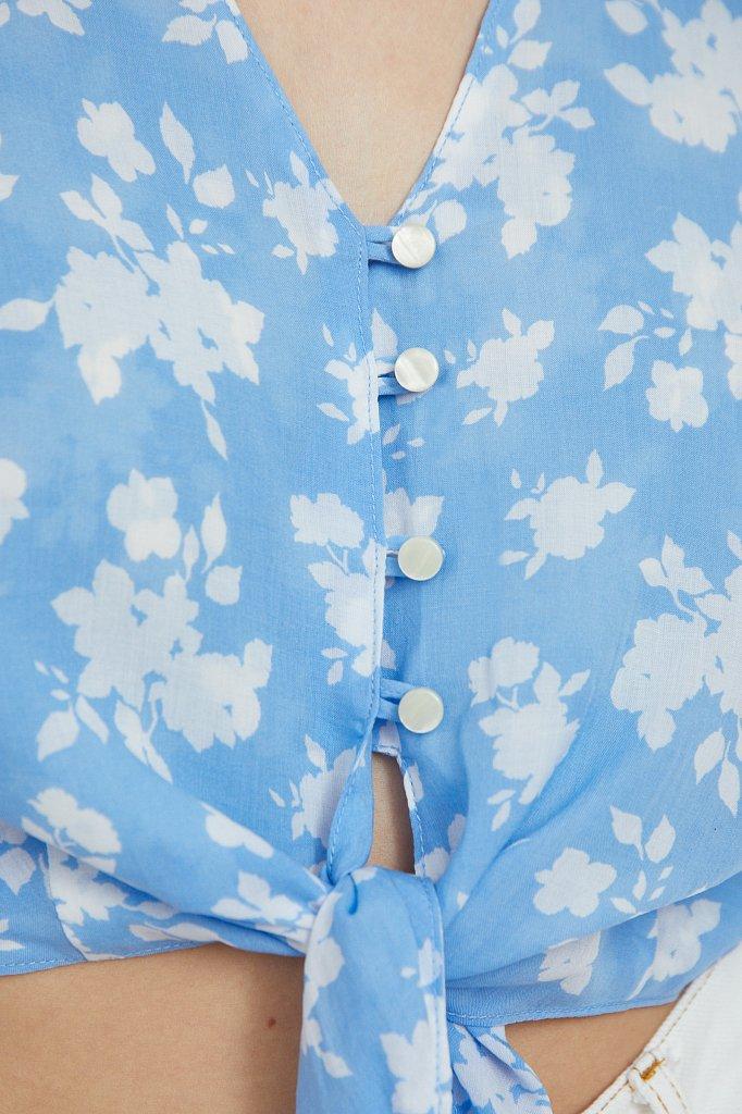 Короткая блуза с цветочным принтом, Модель S21-12020, Фото №5