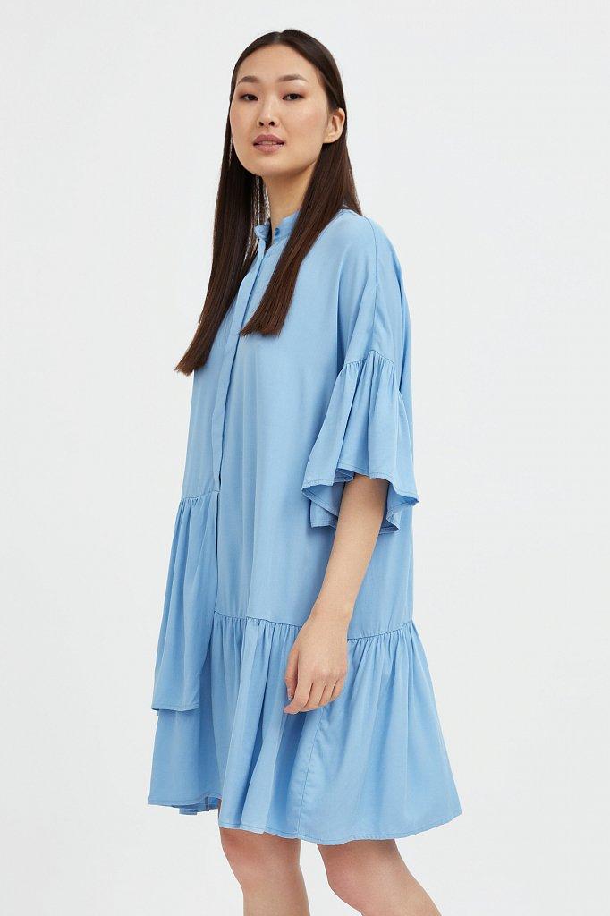 Свободное платье с асимметричными воланами, Модель S21-12023, Фото №3