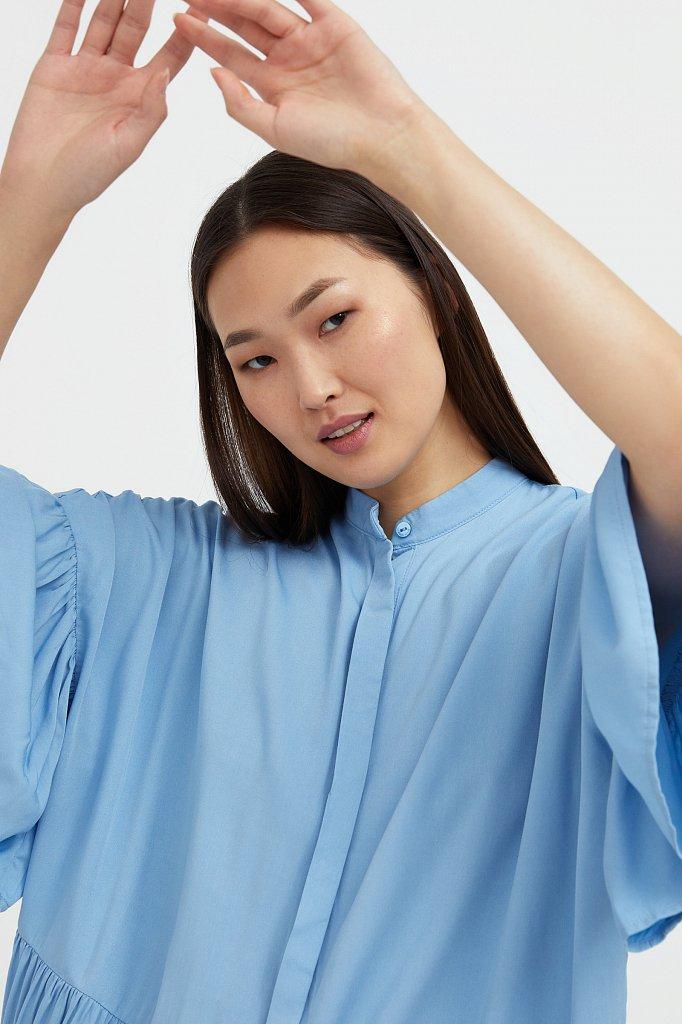 Свободное платье с асимметричными воланами, Модель S21-12023, Фото №6