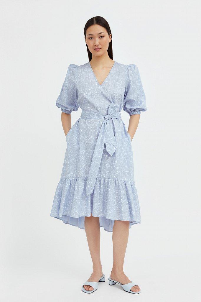 Платье асимметричного кроя с принтом, Модель S21-12044, Фото №2