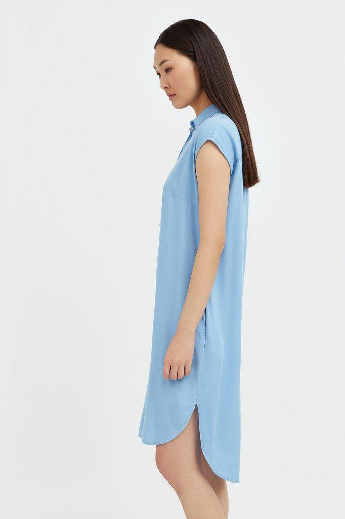 Платье прямого кроя с отложным воротником, Модель S21-12090, Фото №1
