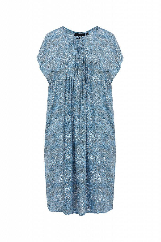 Свободное платье с цветочным принтом, Модель S21-12093, Фото №7