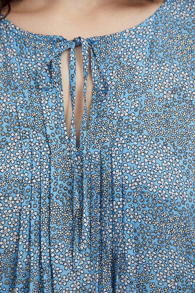 Свободное платье с цветочным принтом, Модель S21-12093, Фото №5