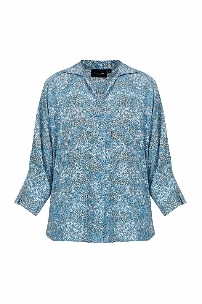 Блуза с цветочным узором, Модель S21-12098, Фото №7