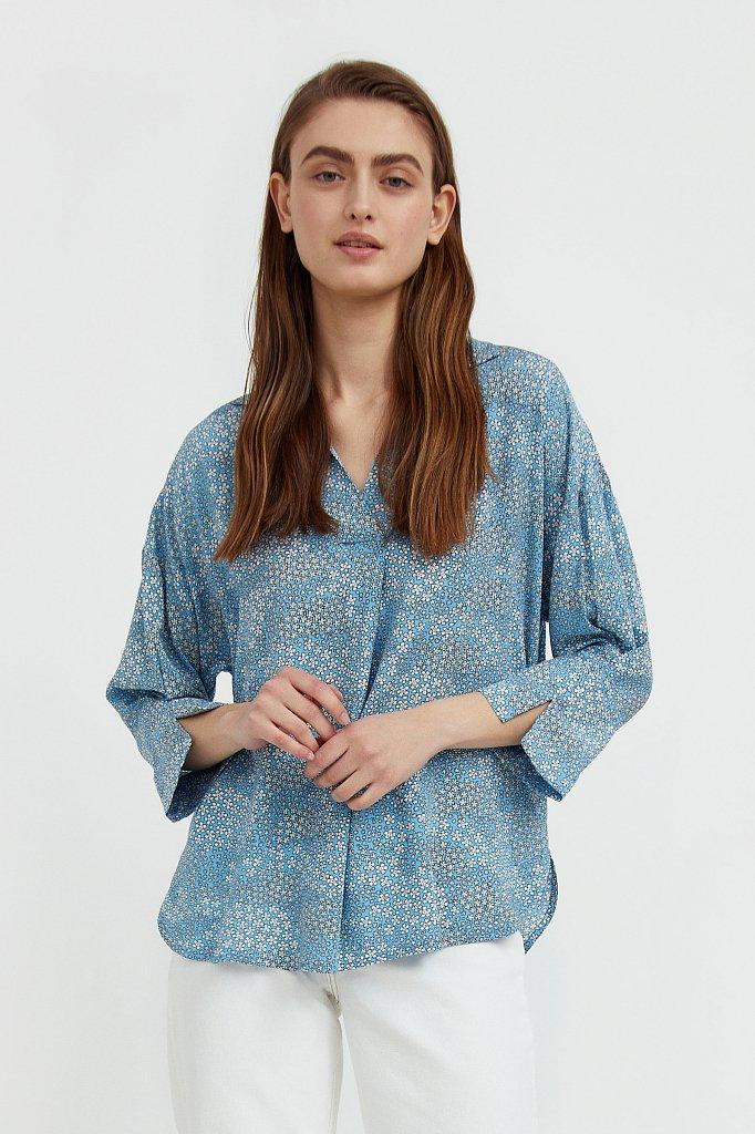 Блуза с цветочным узором, Модель S21-12098, Фото №1