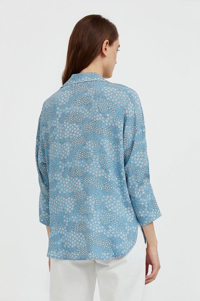 Блуза с цветочным узором, Модель S21-12098, Фото №4