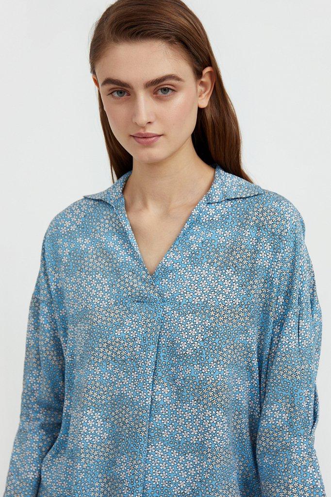Блуза с цветочным узором, Модель S21-12098, Фото №6