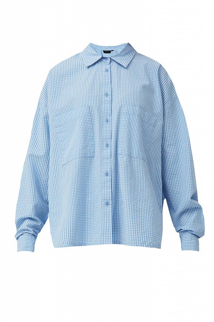 Хлопковая рубашка в клетку, Модель S21-14053, Фото №7