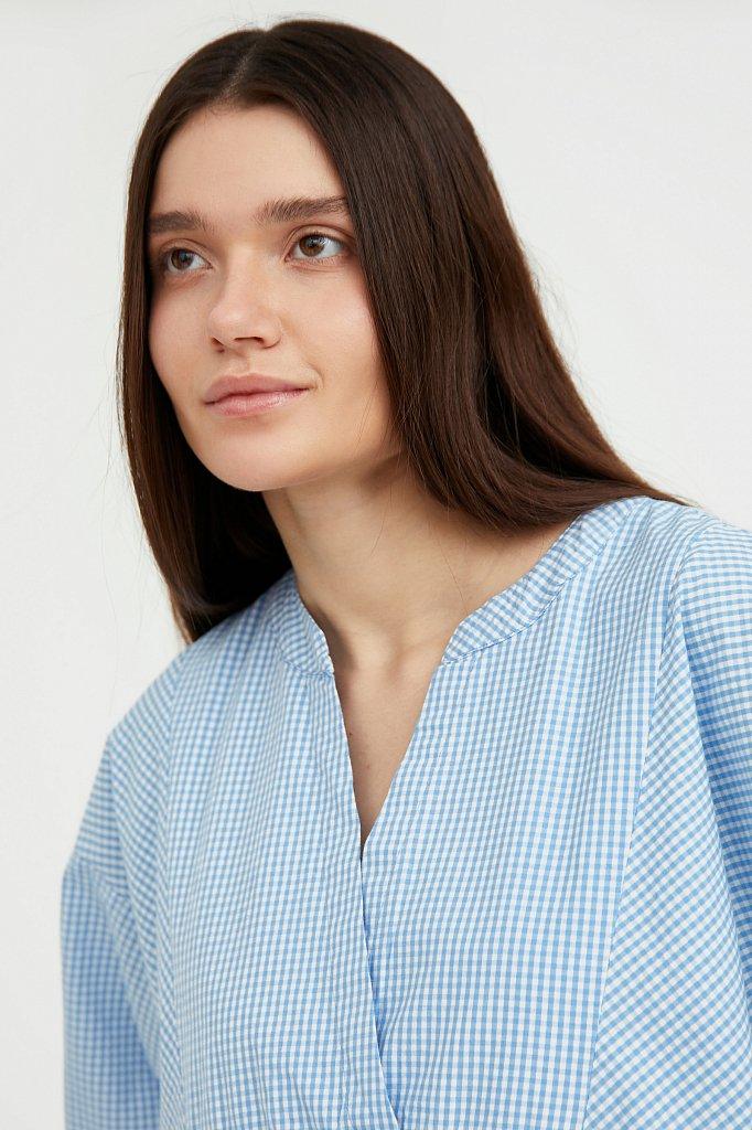 Свободное платье в клетку, Модель S21-14056, Фото №6