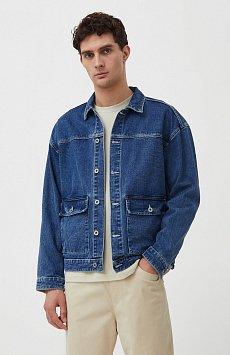 Куртка из денима с накладными карманами S21-25006