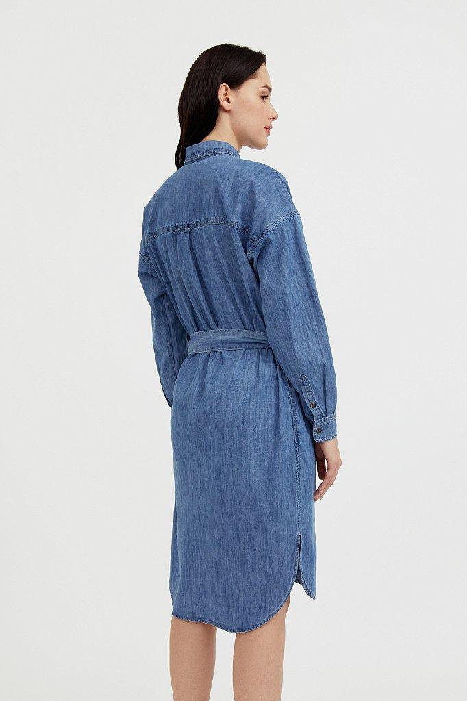 Платье-рубашка из 100% хлопка, Модель S21-15004, Фото №4