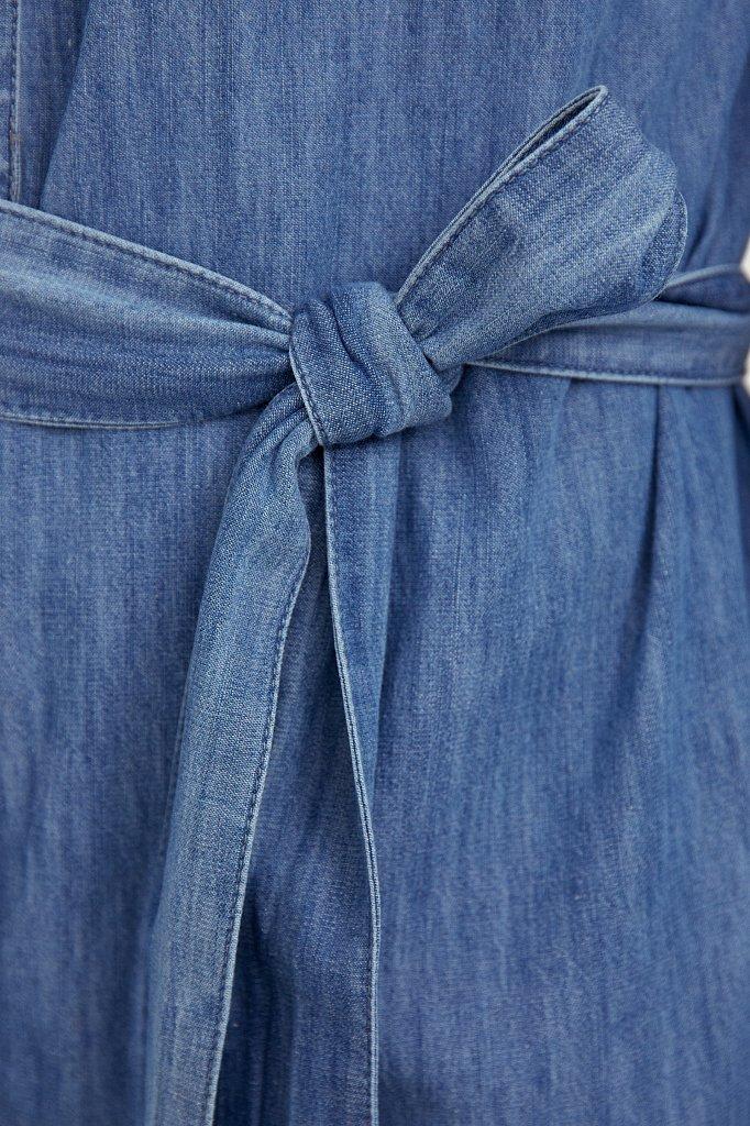 Платье-рубашка из 100% хлопка, Модель S21-15004, Фото №5