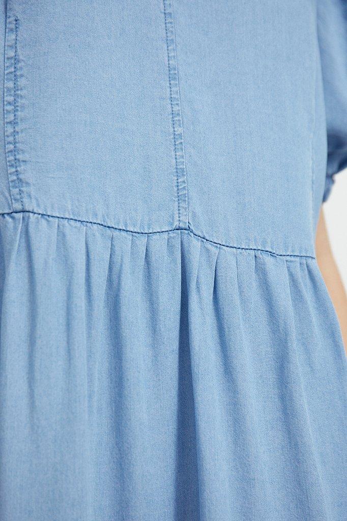 Длинное платье с рукавами-фонариками, Модель S21-15008, Фото №5