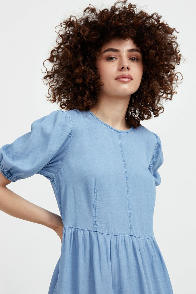 Длинное платье с рукавами-фонариками, Модель S21-15008, Фото №6