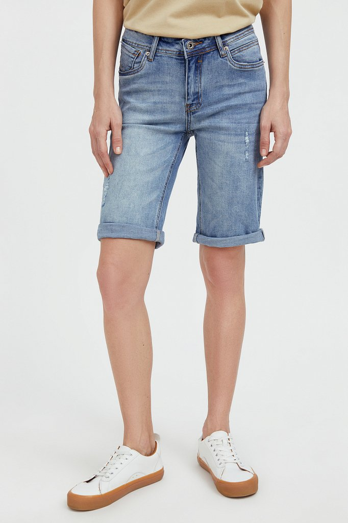 Шорты джинсовые женские, Модель S21-15018, Фото №2