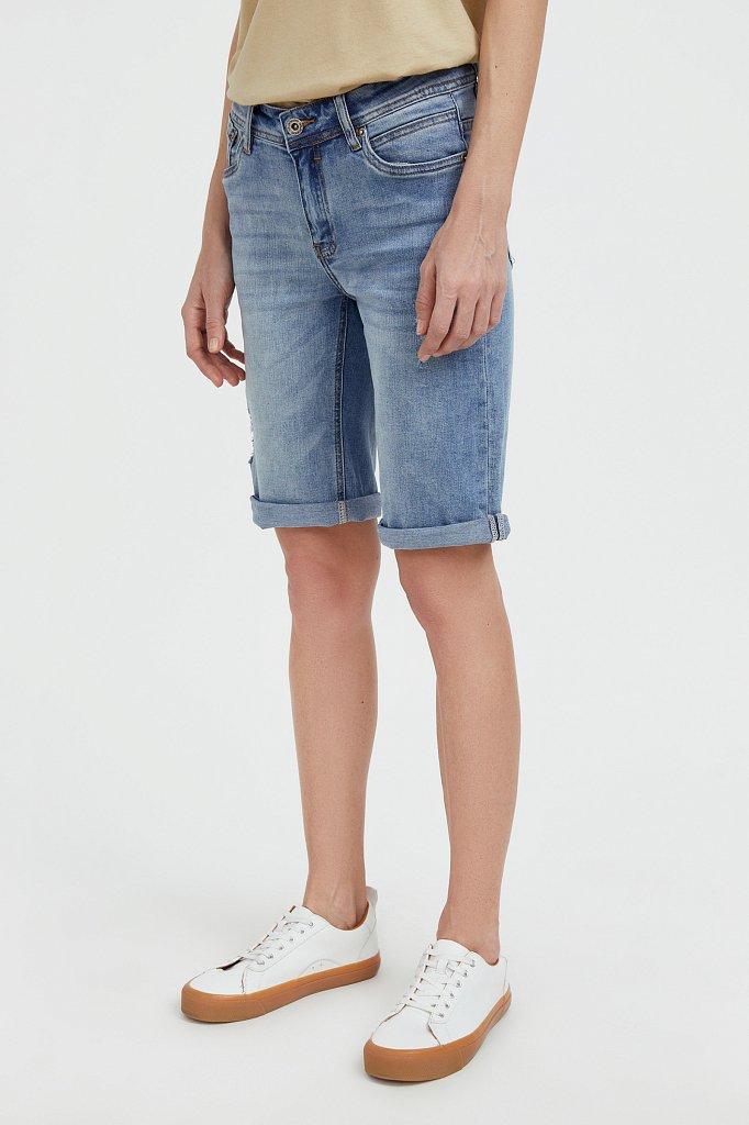 Шорты джинсовые женские, Модель S21-15018, Фото №3