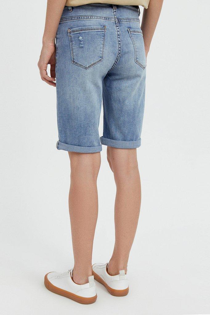 Шорты джинсовые женские, Модель S21-15018, Фото №4